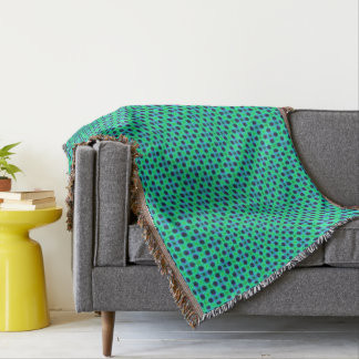 Green Purple Blue Geometric Abstract Throw Blanket