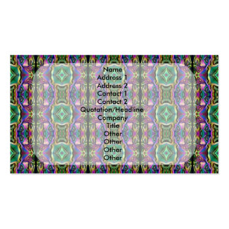 Green Purple Blue Mystic Eye Diamond Pattern Double-Sided Standard Business Cards (Pack Of 100)