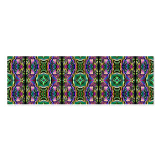 Green Purple Blue Mystic Eye Diamond Pattern Double-Sided Mini Business Cards (Pack Of 20)