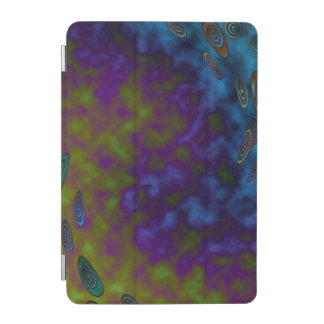 Green Purple Cosmic Abstract iPad Mini Cover