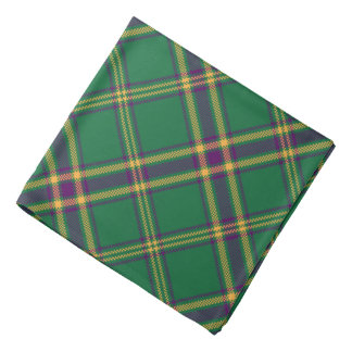 Green/Purple/Gold Tartan Plaid Bandana