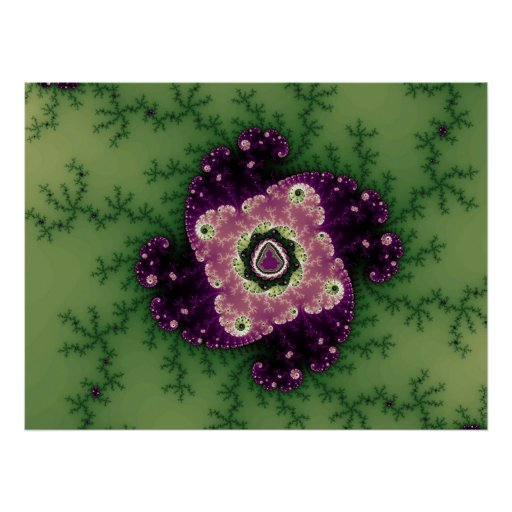 Green/Purple Julia Talisman (Print) Poster