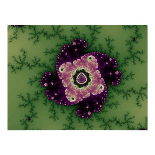 Green/Purple Julia Talisman (Print) Poster