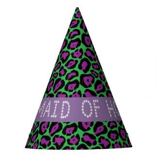 Green/Purple Leopard Diamond Maid Of Honor Hats