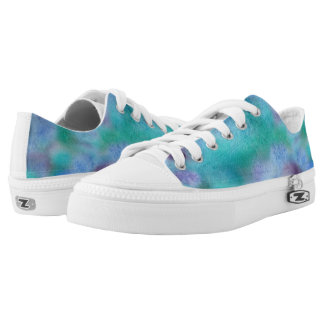 Green Purple Low Top Shoes