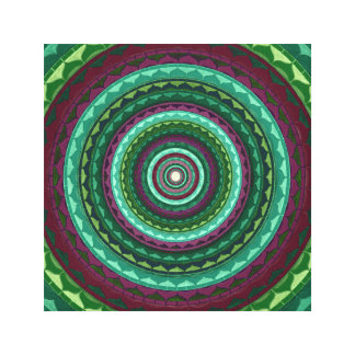 Green purple mandala canvas print