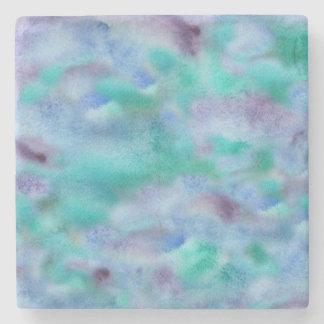 Green-purple marble stone coaster