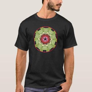 Green & Purple Orchid Mandala T-Shirt