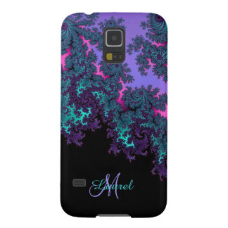 Green Purple Pink Fractal Personalized Galaxy Case Galaxy S5 Cover