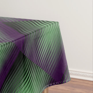 Green Purple Tiled Tablecloth