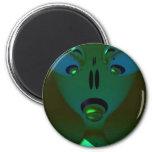 Green Queen Alien, Abstract Art