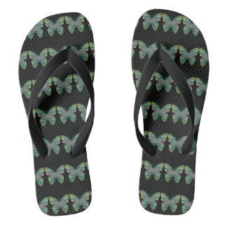 Green Queen Flip Flops