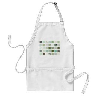 Green quilt mosaic pattern standard apron