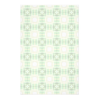 Green quilt pattern stationery