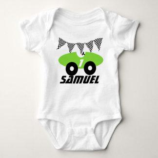 Green Race Car Baby Bodysuit