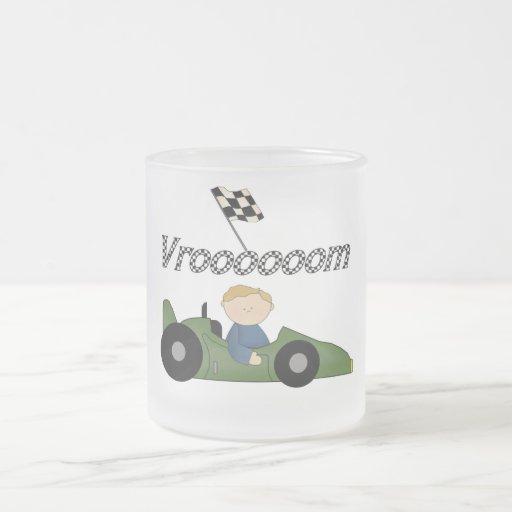 Green Race Car Vroom Tshirts and Gifts Mugs