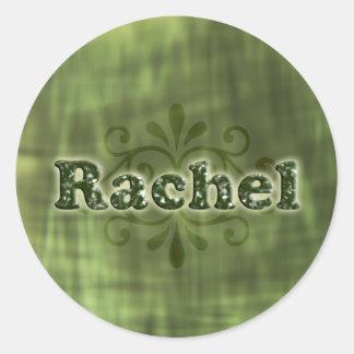 Green Rachel Round Sticker