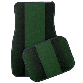 Green Racing Stripe Car Mat