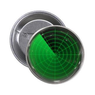 green radar pattern 6 cm round badge