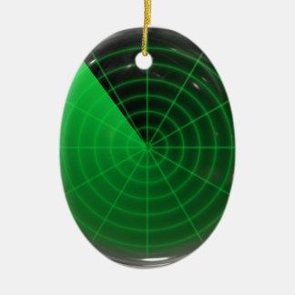 green radar pattern ceramic oval decoration