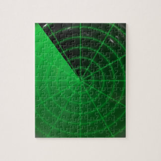 green radar pattern jigsaw puzzle