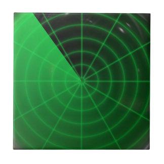 green radar pattern tile
