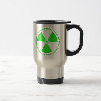 Green Radiation Symbol Mug w/ Text