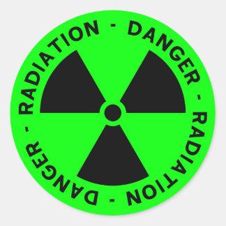 Green Radiation Warning Stickers