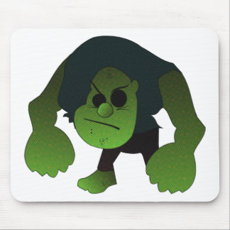 GREEN RAGE MAN MOUSE PAD