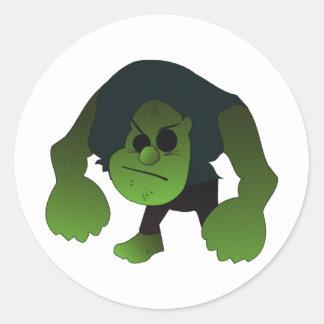 GREEN RAGE MAN STICKER