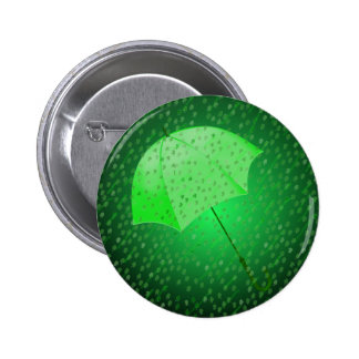 GREEN RAIN by SHARON SHARPE 6 Cm Round Badge