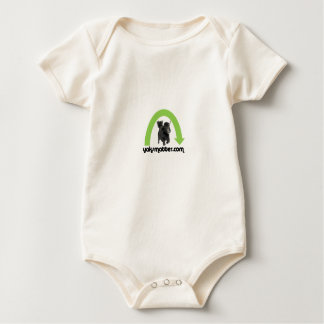 green rainbow baby bodysuit