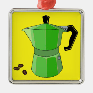 Green Rainbow Espresso Christmas Ornament