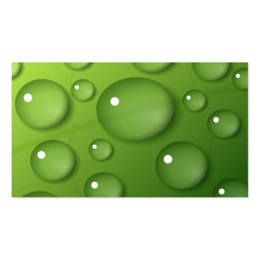 Green Raindrop Pattern Business Cards