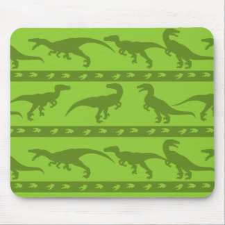 Green Raptor Pattern Mouse Pad