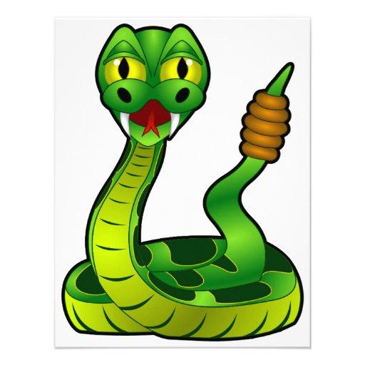 Green Rattlesnake Invitations