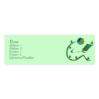 Green Reader Profile Cards Business Card