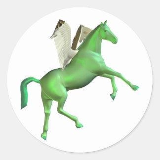 Green Rearing Pegasus Stickers