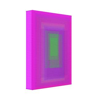 Green Rectangle Canvas Print