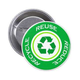 Green recycle - Button