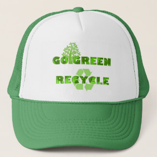 Green Recycle Environmental Hat