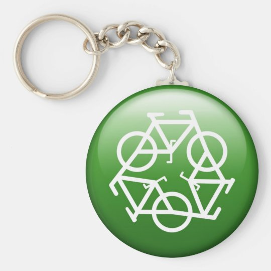 Green Recycle Keychain by Petr Kratochvil