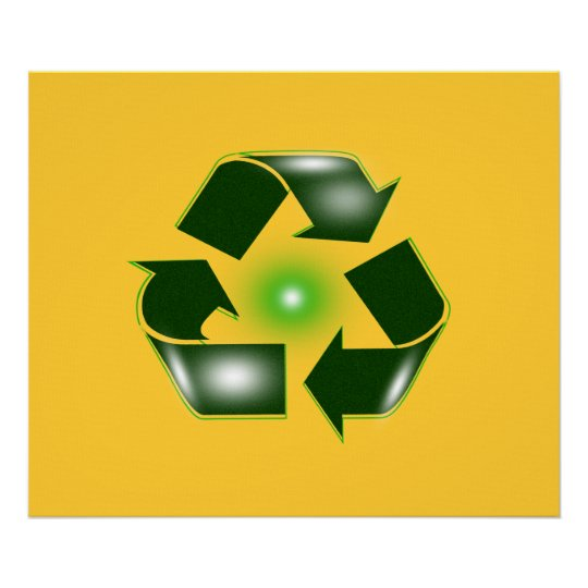 "Green Recycle Logo Large 27.42"" x 23"" Poster  Prin"