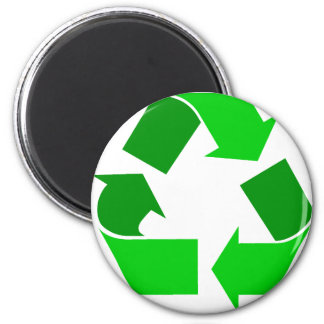 green recycle 6 cm round magnet