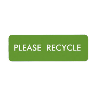 Green Recycle  Simple Warning  Shipping