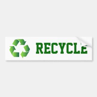 Green Recycle Symbol Bumper Sticker