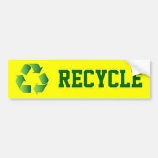Green Recycle Symbol Car Bumper Sticker