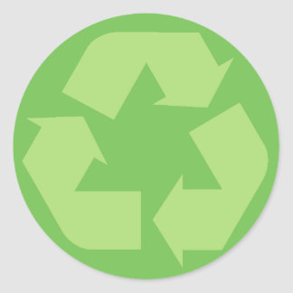 Green Recycle Symbol Stickers