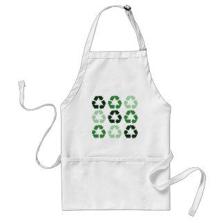 Green Recycle Symbols Standard Apron