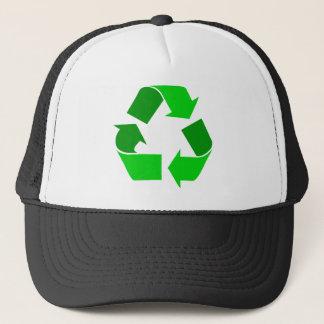 green recycle trucker hat